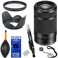 Sony 55-210mm f/4.5-6.3 OSS E-Mount Telephoto Zoom Lens, Black + 6pcs Acc Kit