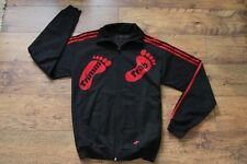 Adidas Vintage Black Trimm Trab Track Top M 100% Authentic