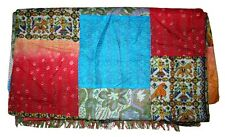 King antique India Quilt small needle Hand Stitch Silk Patchwork Quilt Blanket B