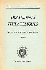 DOCUMENTS PHILATELIQUES + Revue de l'Académie de philatélie - 1961 N° 8 CONGO