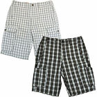 Levis Cargo Shorts Flat Front Plaid Check Mens 29 30 31 32 33 34 36 38 40 P104