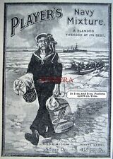 1913 Players 'Navy Mixture' Cigarettes Tobacco ADVERT - Small Antique Print Ad