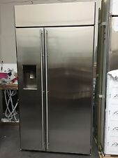 "New* 42"" GE Monogram Side by Side Refrigerator w/dispenser Model#: ZISS420DHSS"