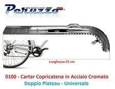 Carter Copricatena in Acciaio Cromato Doppio Platò per Bici 20-24-26 Graziella