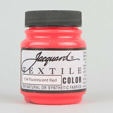 Jacquard TEXTILE Fabric Dye Paint 2.25oz 40 Colours Water Resistant NON CRACK