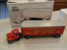 Mint in Box First Gear 1960 Mack B-61 Tractor & Trailer H&W Motor Express Co.