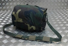 Genuine Vintage Military Issued Canvas Shoulder Bag / Mini Backpack CAMO Type 1