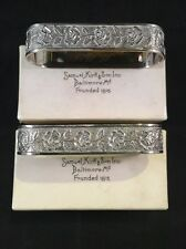 Pair Of Kirk Sterling Silver Repousse Napkin Rings Original Boxes