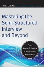 Qualitative Studies in Psychology: Mastering the Semi-Structured Interview...