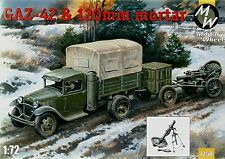 Military wheels 1/72 Gaz-42 et 120mm mortier # 7250