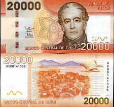 CHILE 20,000 20000 PESOS 2012 P 165 NEW SIGN DATE UNC
