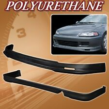 FOR 92-95 CIVIC 2DR T-M POLY URETHANE PU FRONT REAR BUMPER LIP SPOILER BODY KIT