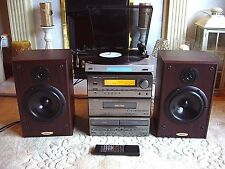 Quality DENON Hi-Fi System with Bush Turntable *Free Denon Tape Deck*