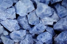 2 Pounds of 'AAA' Grade Blue Calcite Rough - Cabbing, Tumble Rocks, Wrapping