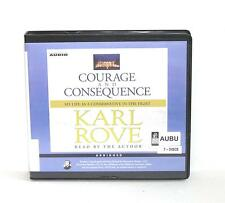 BOOK/AUDIOBOOK CD Karl Rove Conservative Politics COURAGE AND CONSEQUENCE