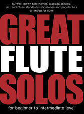 Great Flute Solos Learn to Play Jazz Blues Showtunes Pop Sheet Music Book