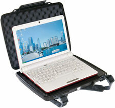 Black Pelican 1075 with Foam Computer Tablet case + Free Engraved Nameplate