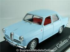 ALFA ROMEO GIULIETTA 1956 MODEL CAR 1/43RD SCALE BLUE COLOUR EXAMPLE T3412Z(=)