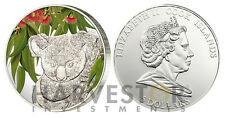 2011 KOALA SCENT OF AUSTRALIA - EUCALYPTUS SCENTED SILVER COIN - COOK ISLANDS