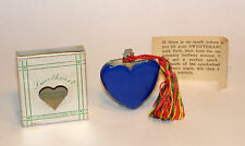 unused 1947 art deco blue bakelite figural heart sweetheart perfume lighter