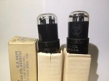 2 x Tung-Sol 12SN7 round plate NOS / BOX tube, best of 6SN7 / 12Sn, PAIRED