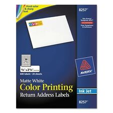 Avery Color Printing Return Address Labels For InkJet Printers - 8257