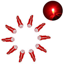 10X T5 5050 1 SMD Ceramic LED Dashboard Bulbs Car Interior Lamps Red Light