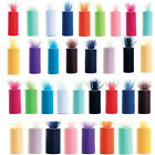 "TULLE Roll Spool 6""x25yd Tutu Wedding Decoration Party Bow 6""x75'Colours Pick"