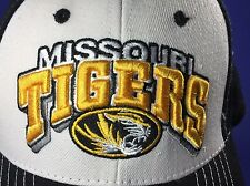 Mizzou Missouri Tigers Sports Trucker Hat Cap Hook & Loop Strap Embroidered Logo