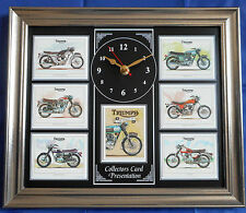 Triumph Classic Motorcycles Model Stunning Collector Cards Wall Clock