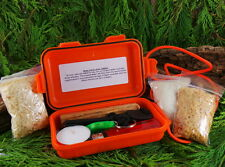 ULTIMATE WATERPROOF BUSHCRAFT/SURVIVAL FIRELIGHTING KIT IDEAL FOR SCOUTS HIKING