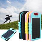 8000mah Solar Power Bank Dual USB Solar Panel Battery Charger with LED Light