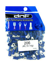 (100 PACK) 16-14 GAUGE BLUE COPPER RING TERMINALS ELECTRICAL WIRE CONNECTORS #6