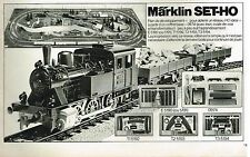 Publicité Advertising 1975 Jeu Jouets Trains locomotive Marklin Set-Ho