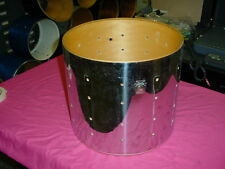 "Vintage  LUDWIG  Chrome On Wood 14"" headsize by 12"" Deep Snare Drum No Res #17"