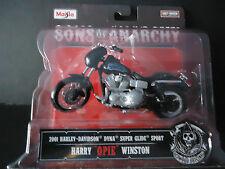 Maisto Harley Davidson Dyna Super Glide Sport 2001 Opie Sons of Anarchy 1/18 New