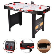 """48"""" Air Powered Hockey Table Indoor Sports Game Electronic Scoring for Kids US"""