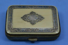 Victorian Napoleon 111 French ladies purse pierced silver mounted silk interior