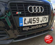 QUATTRO AUDI GRILLE BADGE BUMPER RS3  RS4 RS6 RS7 S3 S4 S5 S6 S7 A3 A4 A5 A6 Q7