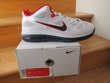 Nike Lebron 9 Low USA White Blue Red size 14