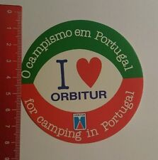 Aufkleber/Sticker: i love Orbitur for Camping in Portugal (18071689)