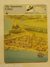 Story of America ~ THE JAMESTOWN COLONY ~ Photo card 03.21 home school aid