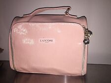 Lancome BABY Pink Zip Around Makeup Vanity bag Travel Cosmetic TRAIN Case PATENT