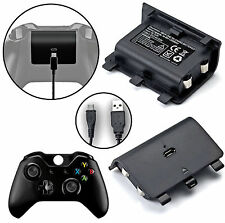 BATTERIA RICARICABILE POWER PACK + Free Play & Charge Cavo Per Xbox One Controller