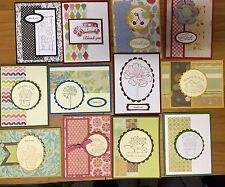 12 Handmade THANK YOU Greeting Cards~ ~Stampin Up+