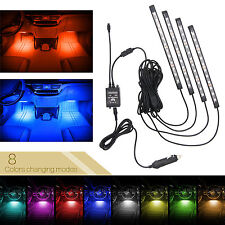 48 LED Car Interior Strip Light Glow Neon Light Remote/Sound-activated 8 Colors