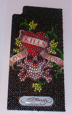 Genuine ED HARDY iPHONE 3G 3GS CRYSTAL DECAL Love Kills Slowly