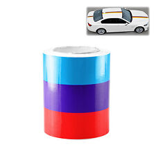 "3""x98"" M Racing Stripe Car Sticker Decal For BMW Exterior Hood Roof Bumpers S"