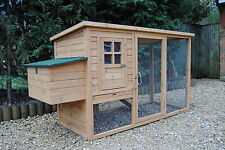 LARGE Chicken Coop Poultry Rabbit Cat House & Run CC047 upto 4 hens Opening Roof