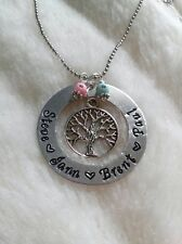 Custom up to 5 Kids Names Necklace Personalized Family Tree Mothers Day Gift Mom